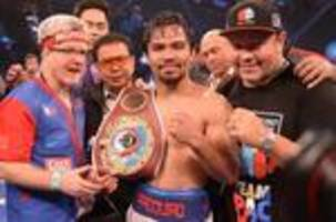 Manny Pacquiao climbs Ring rankings after win against Bradley