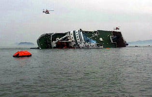 Ferry sinks off South Korean coast -